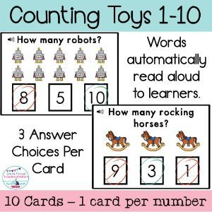 Boom Cards Toy Counting 1 10 In 2020 Toy Clip Free Learning Read Aloud