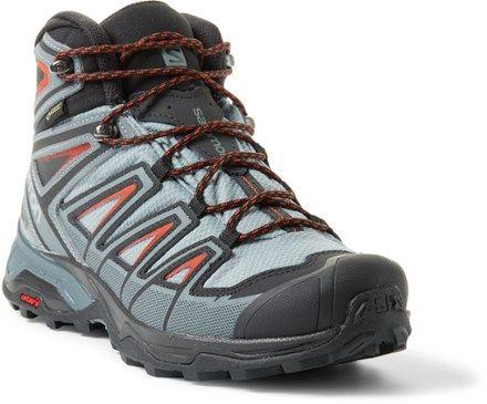Salomon Men S X Ultra 3 Mid Gtx Hiking Boots Lead Stormy Weather 11 5 Hiking Boots Boots Backpacking Boots