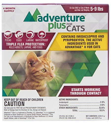 Vedco Adventure Plus For Cats Cat Fleas Fleas Cats