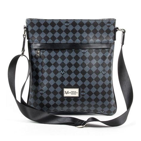 c0f014e1ce9d Versace 19.69 Abbigliamento Sportivo Srl Milano Italia Mens Shoulder Bag  V1969017 GREY BLACK