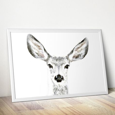Oh My Deer Plakat Poster Quotes Napis Watercolor Akwarele Inspiration Dekoration Interiordesign Interior Dekoracje Grafika Plakat Akwarele