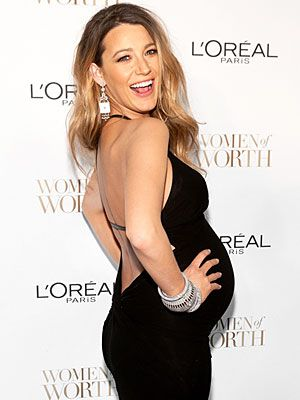 3c8582ffea8f6 Blake Lively Talks Maternity Style: Her Heels, Her Cloaks and Yep, That  Backless