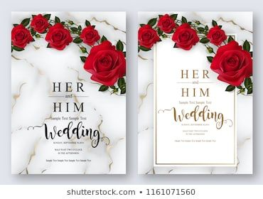 Wedding Invitation Card Templates With Realistic Of Beautiful Red Rose And Flower Red Rose Wedding Invitations Rose Wedding Invitations Red Wedding Invitations