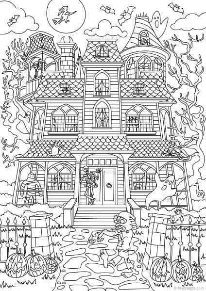 Halloween Coloring Pages Creepy Halloween Coloring Pages Printable Halloween Coloring Pages Pumpkin Coloring Pages