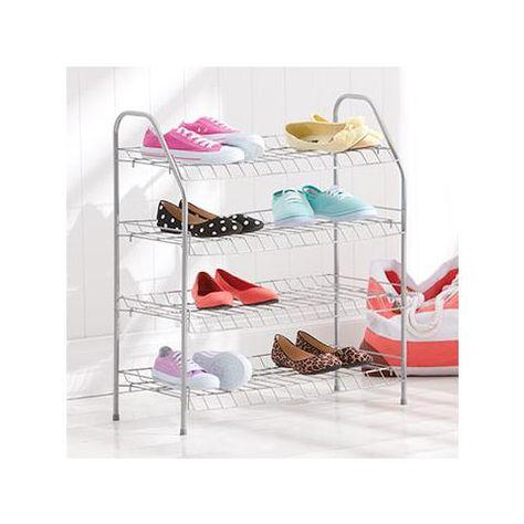 Metal Shoe Rack 4 Tier Kmart 12 66cm W X 72cm H 28cm D Bedroom Reno Racks And Shoes