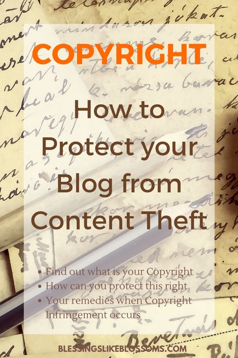 Copyright - How to protect your blog from Content Theft