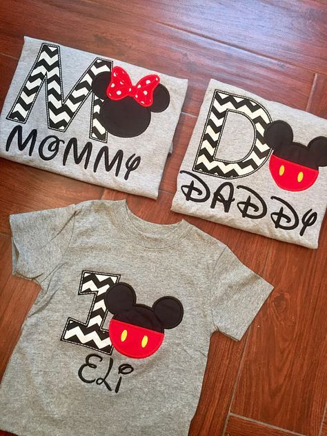 Mickey Mouse 1st Birthday Shirt Set In 2019