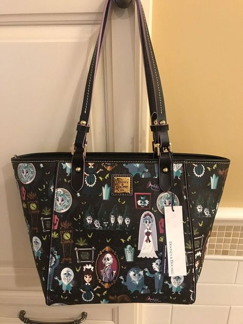 ca4889d45a26 DOONEY   BOURKE 100% Authentic Disney Parks HAUNTED MANSION 2018 TOTE NWT   268