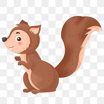 Cute Cartoon Little Animal Squirrel Cartoon Poster Illustration Hand Painted Png Transparent Clipart Image And Psd File For Free Download Sheep Illustration Cute Cartoon Squirrel