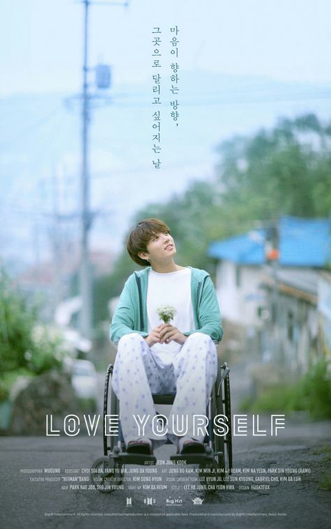 Jungkook! LOVE YOURSELF Poster! What is this?? Looks like a drama poster!! What??!!