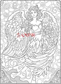 Special Offer Buy 2 Pdf Charts And Get 3rd One Of Your Choice Free Angel Coloring Pages Abstract Coloring Pages Coloring Pages