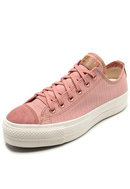 converse all stars platform rosa