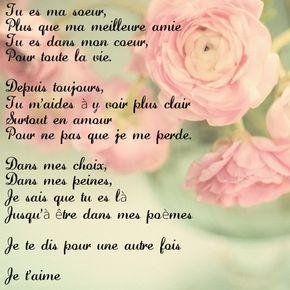 Poeme Amour Poeme Soeur