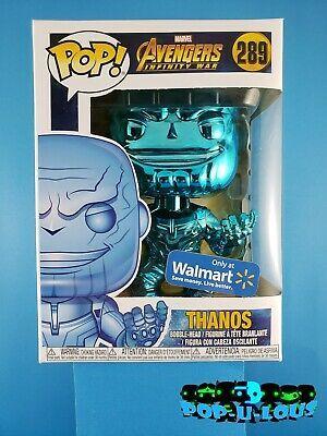 Funko POP Marvel Avengers Issue #415 Thanos Orange Chrome Walmart Vinyl Figure
