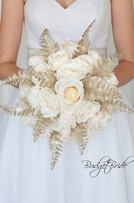 Pink Champagne Colored Wedding Flowers Brides Bouquet Sparkly Bling Champagne Wedding Colors Gold Wedding Bouquets Gold Wedding Flowers