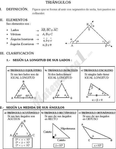 Triangulos Ejercicios De Geometria De Sexto De Primaria Clasificacion De Triangulos Geometria Y Trigonometria Actividades De Geometría