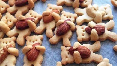 طريقة عمل حلويات العيد للأطفال بأقل التكاليف Cookies Recipes Christmas Bear Cookies Teddy Bear Cookies