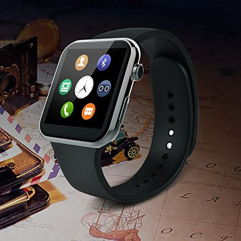 RWS A9 - Smartwatch compatible con Apple iPhone 6, 5S, 5C…