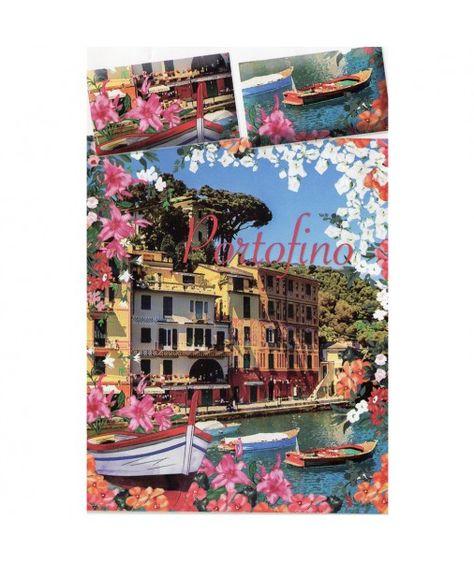 Lenzuola Matrimoniali Stock.Completo Lenzuola Matrimoniale Portofino Multicolore Puro Cotone