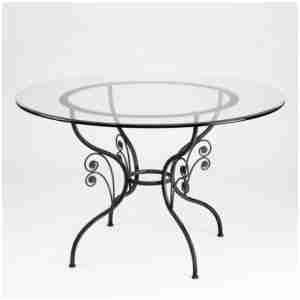 41 Excellent Table Ronde Plateau Verre Muebles Ideas Creativas Para Decorar Artesanias En Hierro