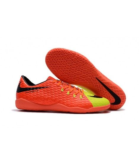 best service 7f6dd aadb2 Nike Hypervenom Phelon III IC SÁLOVÁ Oranžový Žlutý Černá Muži Laceless  Kopačky