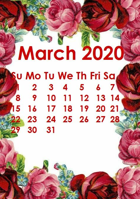 Monthly 2020 Iphone Calendar Wallpaper March Calendar Printable