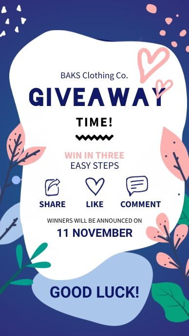 Instagram Giveaway Story Template Contest Poster Instagram Giveaway Small Business Quotes