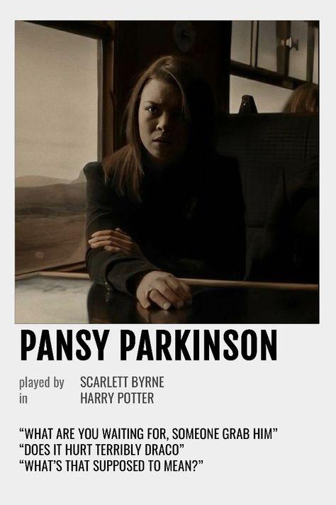 Pansy Parkinson Polaroid Poster