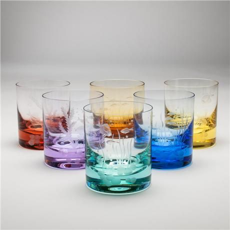 Ocean Life Double Old Fashioned Glasses Ocean Life Glasses Glass