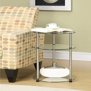 Superb Copper Grove Bulqize 3 Tier Round Glass And Steel End Table Camellatalisay Diy Chair Ideas Camellatalisaycom