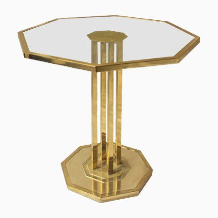 Brass And Glass Coffee Table 1970s Table Glass Home Decor