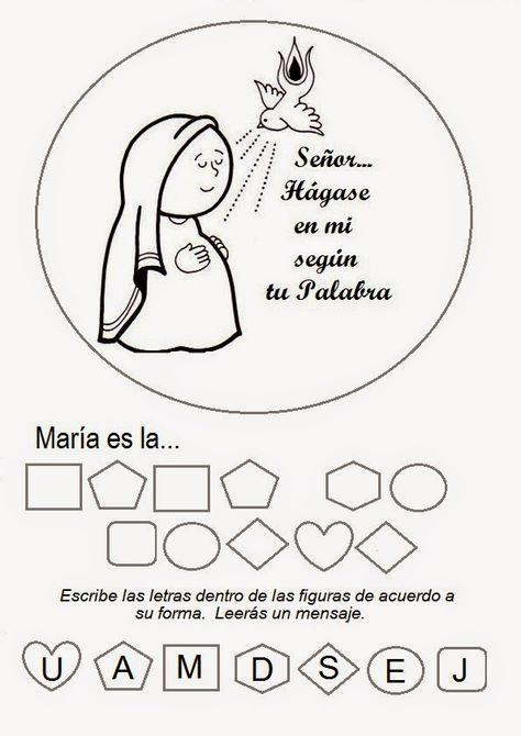 El Rincón de las Melli: JUEGO: La mamá de Jesús (para los más chiquitos)