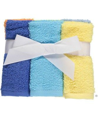 Luvable Friends Brights 6 Pack Washcloths Washing Clothes Child Smile 6 Packs