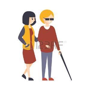 Persona Ciega Cruzando La Pista Dibujo Animado Buscar Con Google Dibujos Animados Personas Personas Ciegas