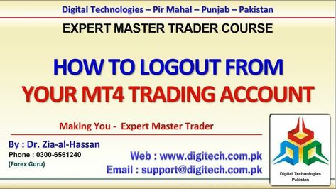 How To Log Out From Your Trading Account From Mt4 Free Urdu