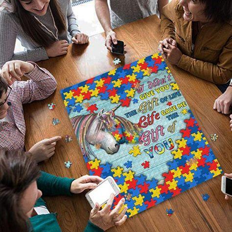 Unicorn Mom To Autism Child Puzzle