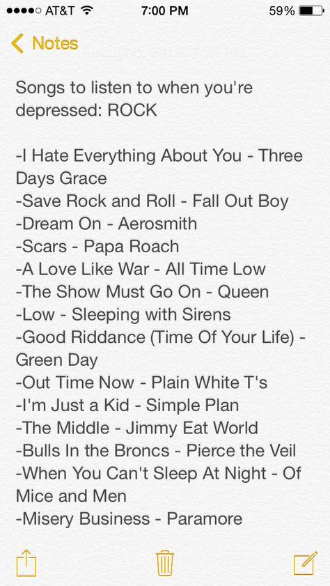 Sad song list