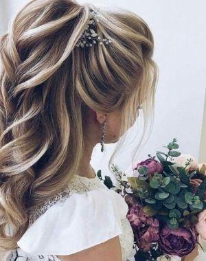 Pin Von Neuerstil Auf Neueste Mode Frisur Standesamt Halboffen Frisur Standesamt Hochzeitsfrisuren