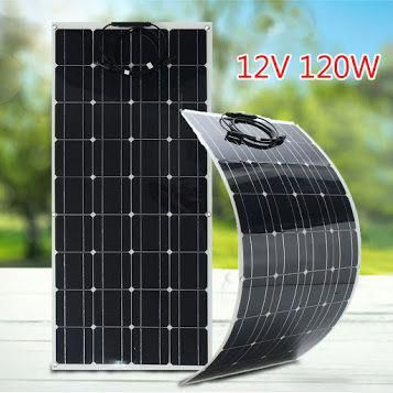 120w 12v Solar Panel R Flexible Monocrystalline Solar Cells Module Kit 12v Car Battery R Black Solarpanels S In 2020 Solar Panels Solar Energy Panels 12v Solar Panel
