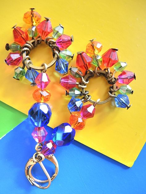 juwelen/jewelry : MAAK HET ZELF/MAKE IT YOURSELF  : project : oorbellen/earrings 'Bollywood'