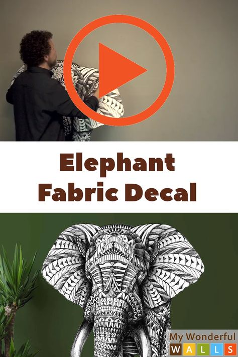 FOUND IT! If you are looking for an elephant wall idea for your office, home, boy, girl or gender neutral nursery, the search is over! This unique elephant has a tribal-meets indian-meets boho-meets world market-vibe. This impressive elephant decal is a great product if you want a stunning and easy unisex diy wall mural with an elephant theme or animal theme. GORGEOUS! #mywonderfulwalls #elephantdecal #elephantnursery #elephants #nurserywalls