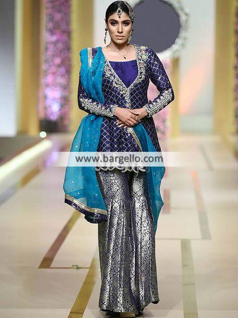Pakistani Wedding Outfit Wedding Gharara Dresses Jeddah Saudi Arabia