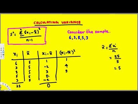 Sample Variance and Sample Standard Deviation - Treatment of - sample variance