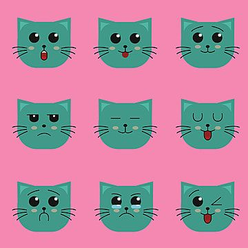 Cute Cat Icon Collection Cute Illustration Icon Png And Vector With Transparent Background For Free Download Cat Icon Icon Collection Cartoon Styles