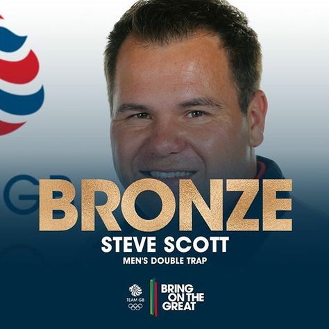 #Bronze #Medal. An all Team GB Bronze Medal match in the Men's Double Trap shooting saw Steve Scott score a perfect 30 to beat out teammate Tim Kneale. Well done both and big congratulations Steve! #BringOnTheGreat