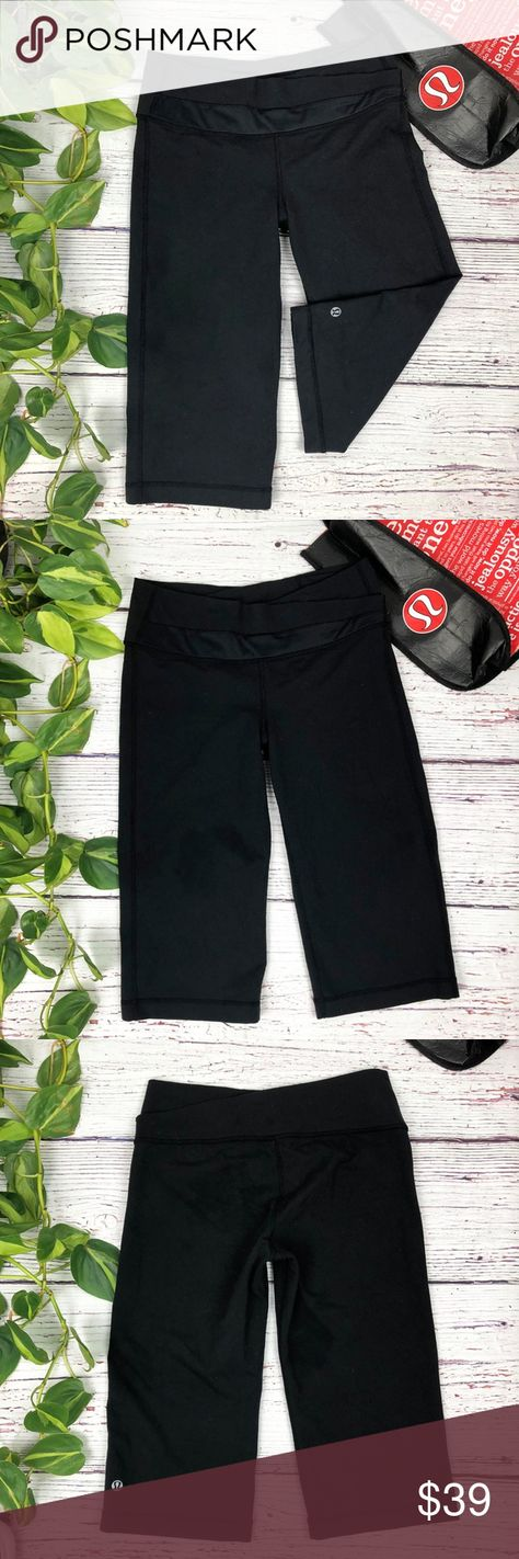 87b08a9807 {Lululemon} Black Crop Astro Legging Pants, 6 When we're jetting from