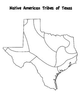 Texas Native American Map Texas History Map   Native Americans | Texas history, Texas map