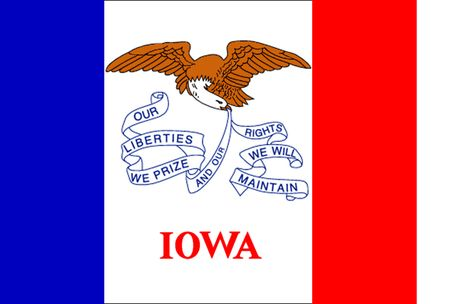 I Would Like To Live In Iowa Iowa Iowa State Flag