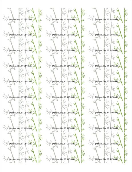 Return Address Labels Bamboo 30 Per Page Works With Avery 5160 Return Address Labels Template Address Label Template Label Templates