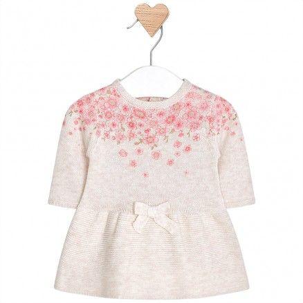 Mayoral Ivory Flower Dress Zero 20 Kids Dresses Knit Dress